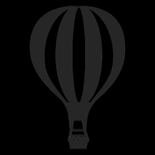 Linea con silueta de globo aerostático. Transparent PNG
