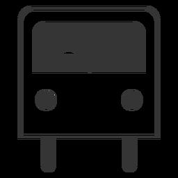 Icono de autobús de estilo de línea