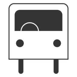 Line style bus icon