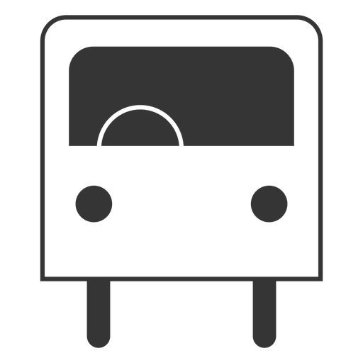Line style bus icon Transparent PNG