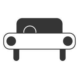 Icono de coche de estilo de línea