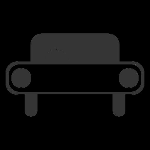 Icono de coche de estilo de línea Transparent PNG