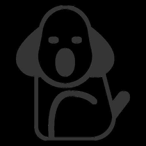 Line style dog icon