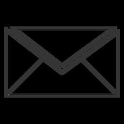Ícone de vetor de envelope de estilo de linha