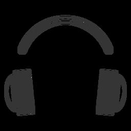 Ícone de fone de ouvido de estilo de linha