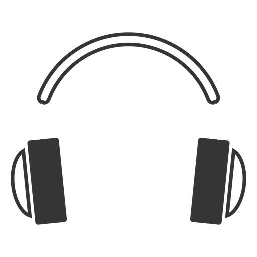 Line style headphone icon Transparent PNG