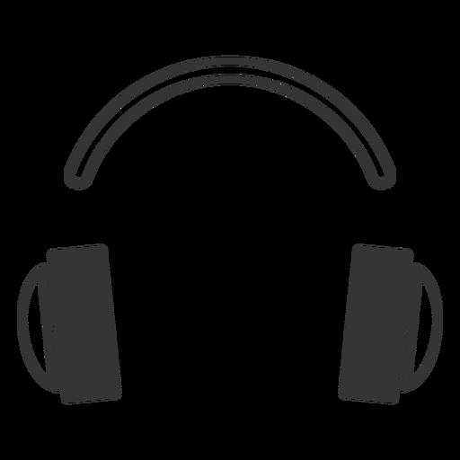 Line style headphone icon