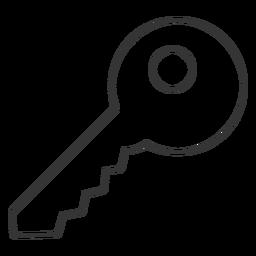 Ícone de chave de estilo de linha
