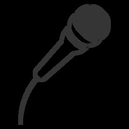 Icono de micrófono de estilo de línea
