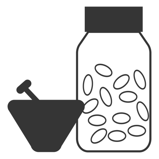 Line style mortar and pestle medicine icon Transparent PNG