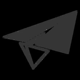 Ícone de avião de papel de estilo de linha