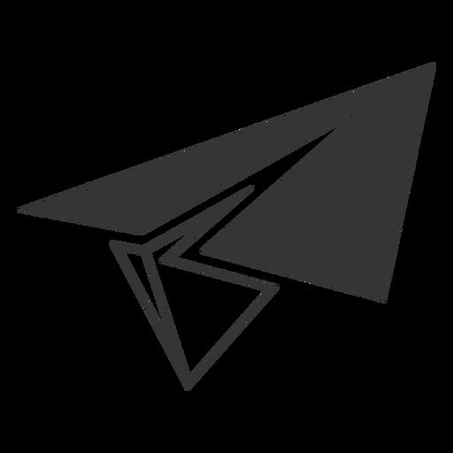 Ícone de avião de papel de estilo de linha Transparent PNG