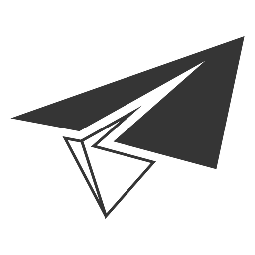 Line style paper airplane icon Transparent PNG