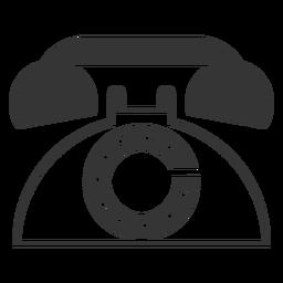 Icono de teléfono retro de estilo de línea