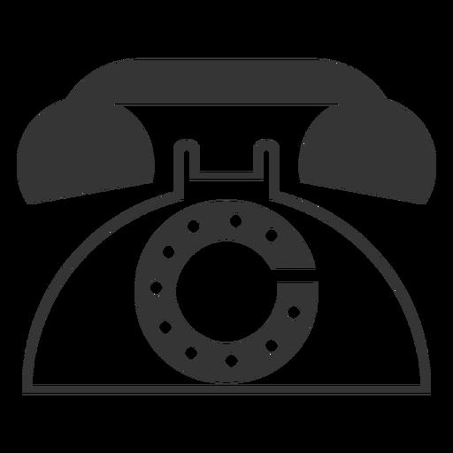 Ícone de telefone retro estilo de linha Transparent PNG