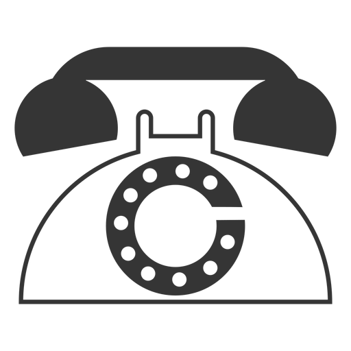 Line style retro phone icon Transparent PNG