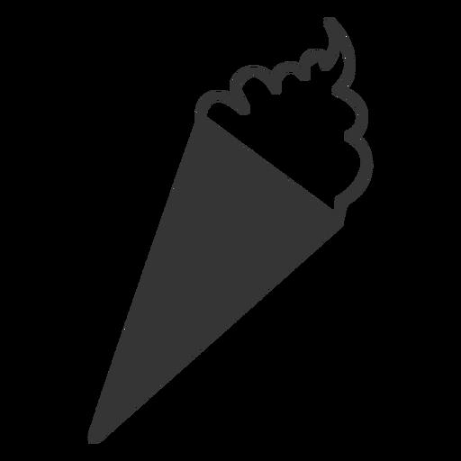 Icono de helado de estilo de línea