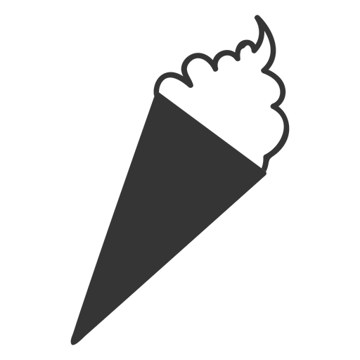 Line style sundae icon Transparent PNG