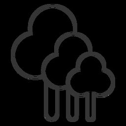 Icono de árbol de estilo de línea