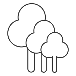 Line style tree icon