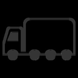 Icono de camión de estilo de línea
