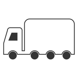 Line style truck icon
