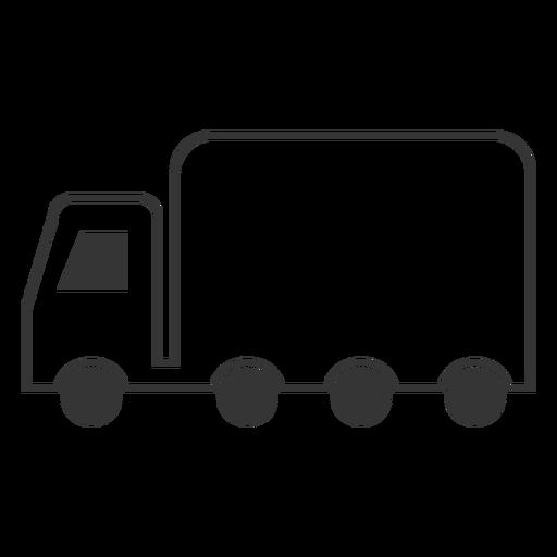 Icono de camión de estilo de línea Transparent PNG