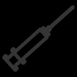 Icono de jeringa de estilo de línea