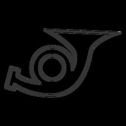Ícone de linha estilo trumpret