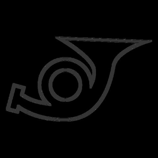 Ícone de linha estilo trumpret Transparent PNG