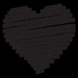 Line heart silhouette