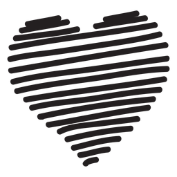 Linie Herzschattenbild