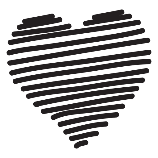 Line heart silhouette Transparent PNG