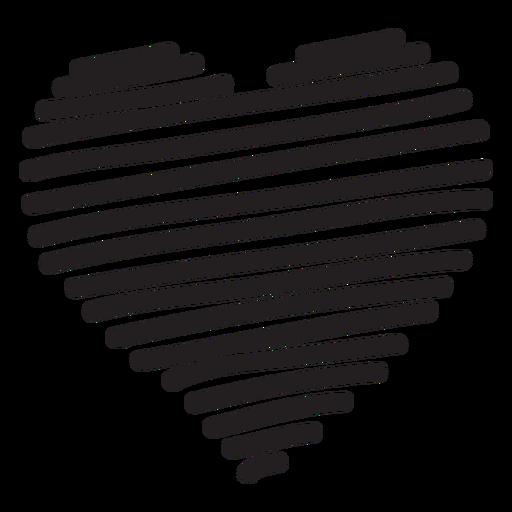 Silhueta de coração de linha Transparent PNG