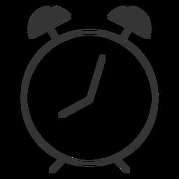 Icono de reloj de línea estilo alam