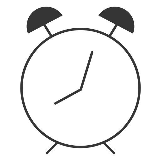 Icono de reloj de línea estilo alam Transparent PNG