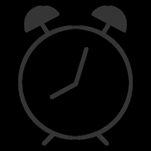 Line style alam clock icon