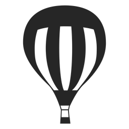 Lined hot air balloon silhouette
