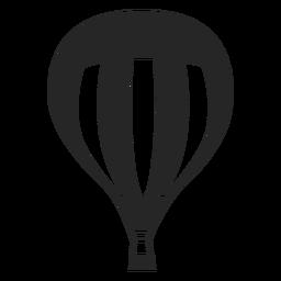 Silhueta de balão de ar quente forrado