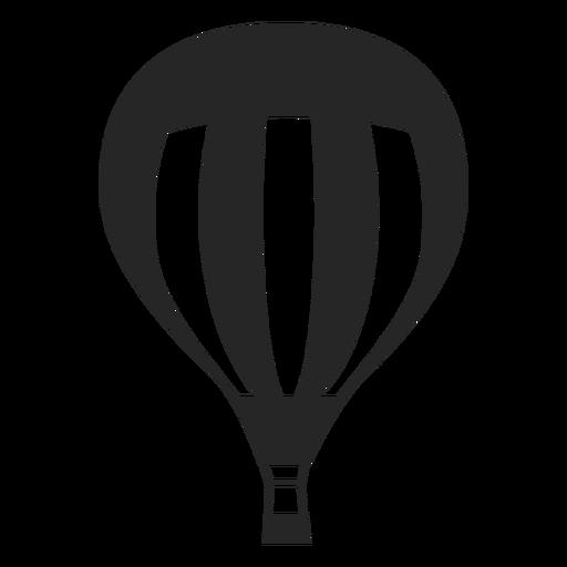Silhueta de balão de ar quente forrado Transparent PNG