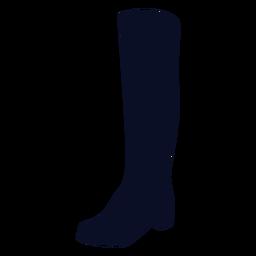 Silhueta de bota longa
