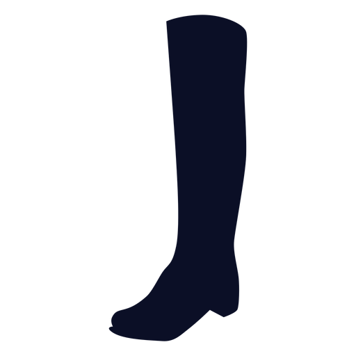 Long boot silhouette Transparent PNG