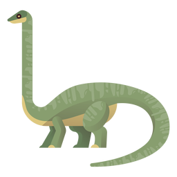 Long neck brachiosaurus vector
