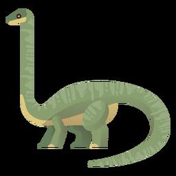 Vector de cuello largo brachiosaurus