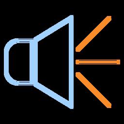 Loud speaker line style icon
