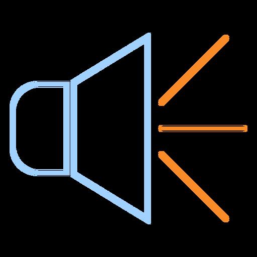 Icono de estilo de línea de altavoz ruidoso Transparent PNG