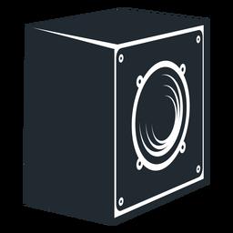 Ícone de vista lateral de alto-falante