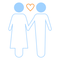 Love couple line style icon