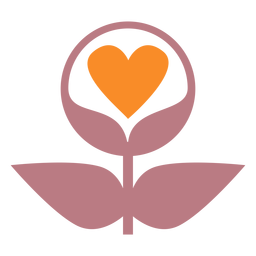 Ícone de estilo de linha de plantas de amor