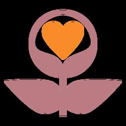 Icono de estilo de línea de plantas de amor